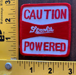 Caution Stroh's Powered Beer embroidered patch NOS vintage