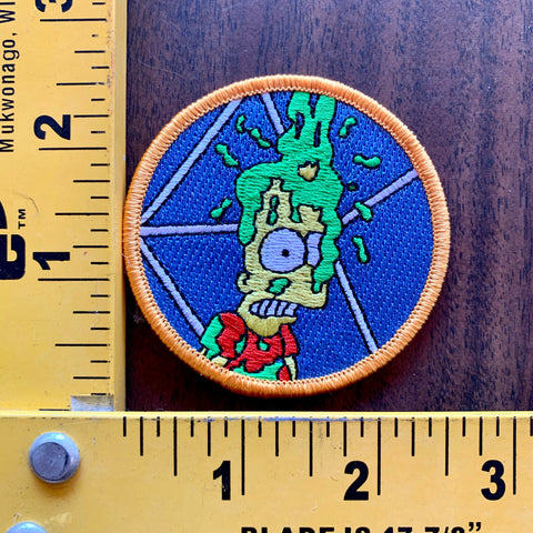 you cant do that on Bart Simpson embroidered patch