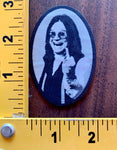 "OZZY OSBORNE iron on patch ""youre number one"""