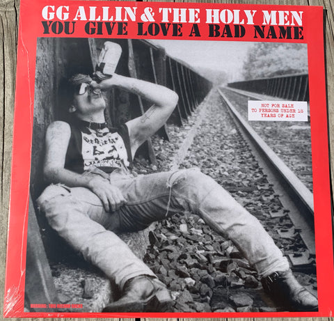 GG Allin & The Holy Men ‎– You Give Love A Bad Name (IMPORT) (NEW/Sealed