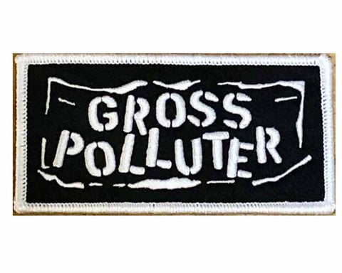 GROSS POLLUTER Embroidered Logo Iron On  Patch