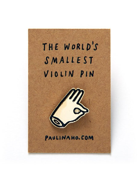World's Smallest Violin Pin