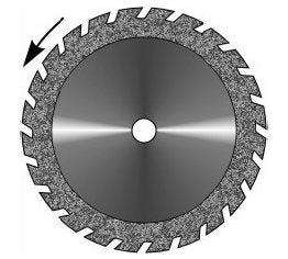 RAC Large Double Sided Diamond Disc Saw Very Thick (0.55mm)