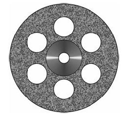 RAC Small Double Sided 8-Hole Diamond Disc Thick (0.40mm)