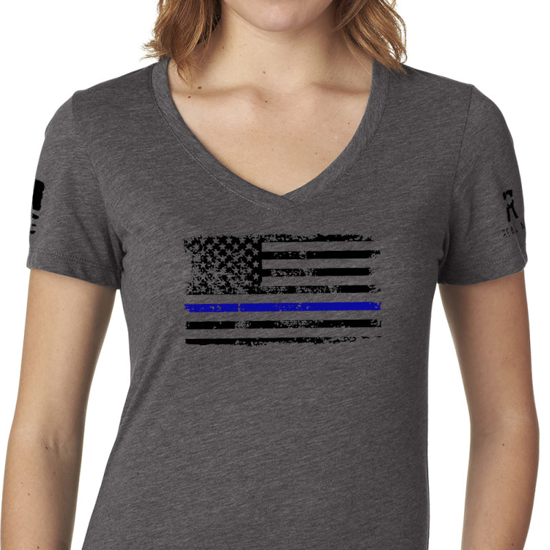 Blue Line Flag V-Neck