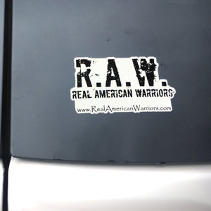 R.A.W. Vinyl Cling Window Decal