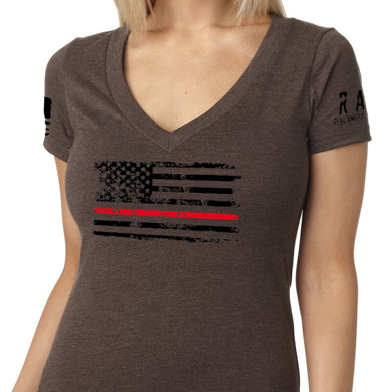 Red Line Flag V-Neck