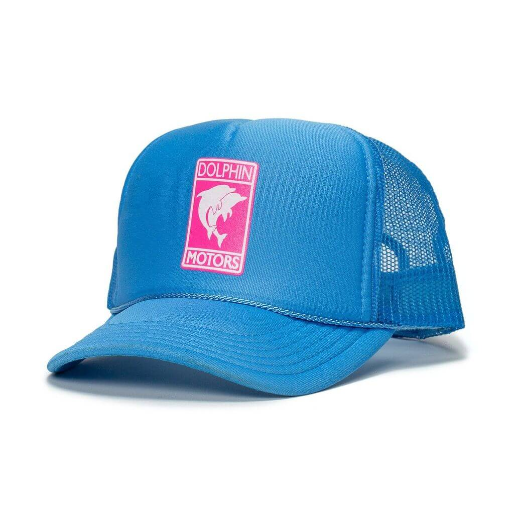 trucker in light blue