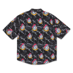 Chrome 8-Ball Ocean Button Up in Black