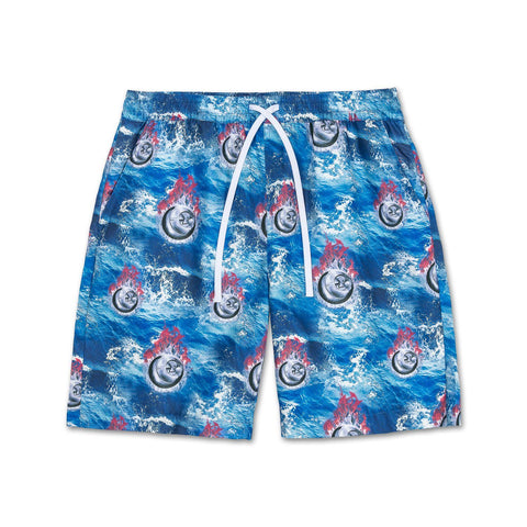 Chrome 8-Ball Shorts in Blue