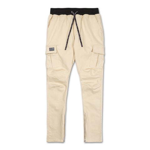 Flag Cargo Pants in Creme