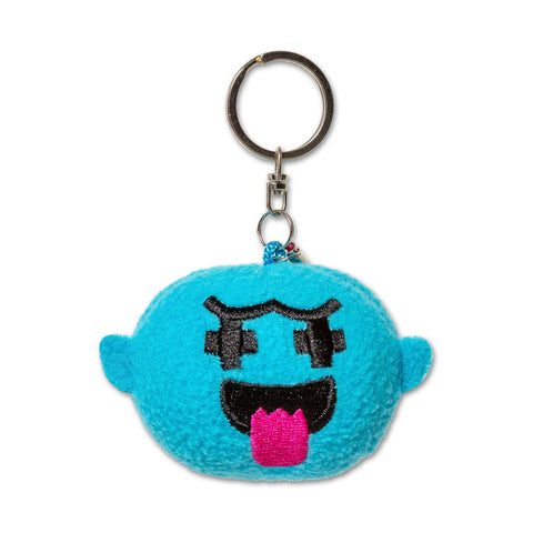 Ghost Plush Keychain in Aqua