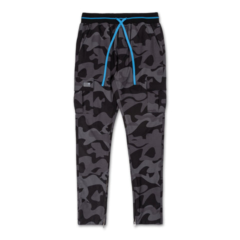 Ink Camo Cargo Pant in Black