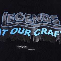 Legend Block Tee in Black