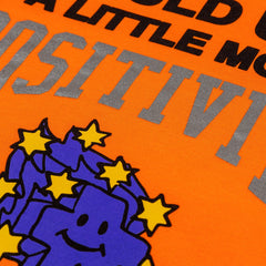 More Positivity Hoodie in Orange