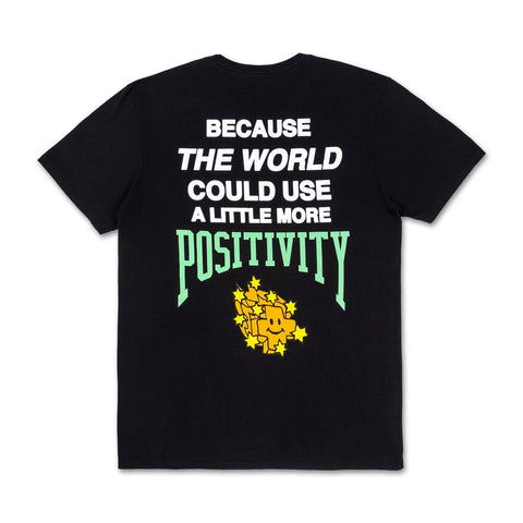 More Positivity Tee in Black