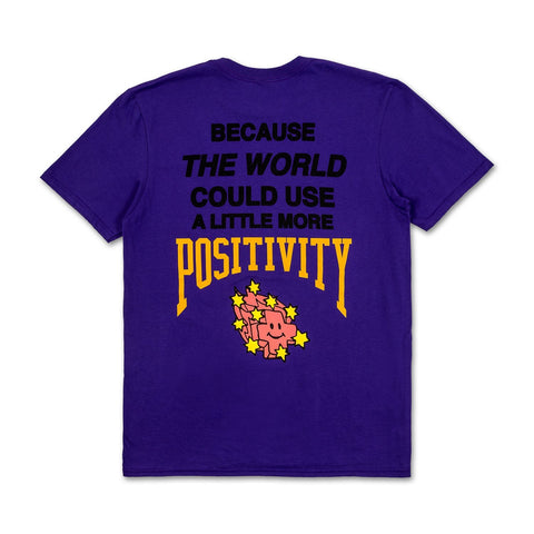 More Positivity Tee in Purple