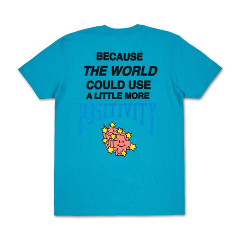 More Positivity Tee in Teal