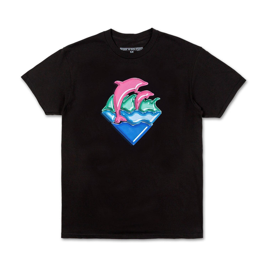 Nos Waves Tee in Black