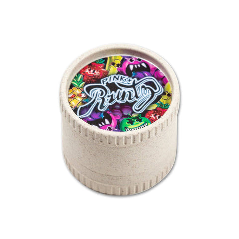 Pink + Runtz Santa Cruz® Hemp Grinder in White