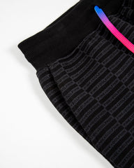 Spectra Flame Script Sweatpants in Black