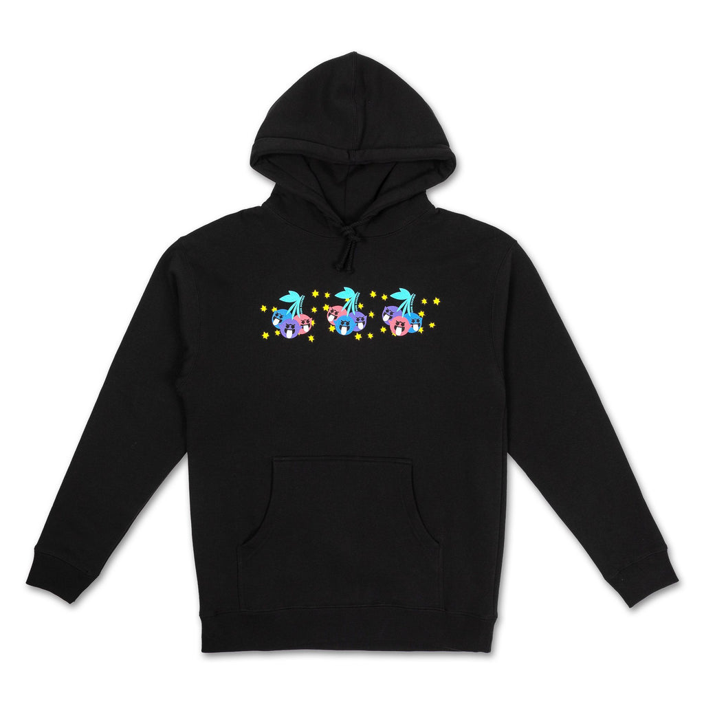 Triple Cherry Hoodie in Black