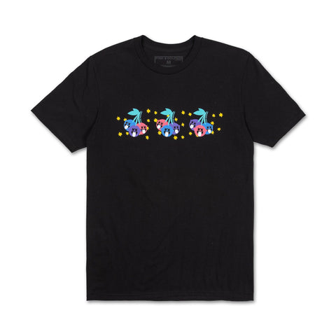 Triple Cherry Tee in Black