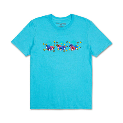 Triple Cherry Tee in Lt. Blue