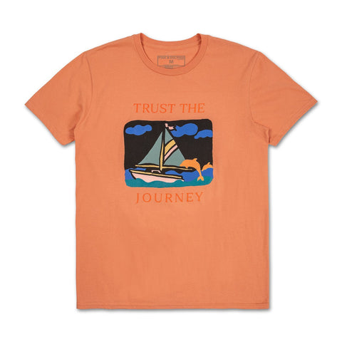 Trust The Journey Tee in Peach