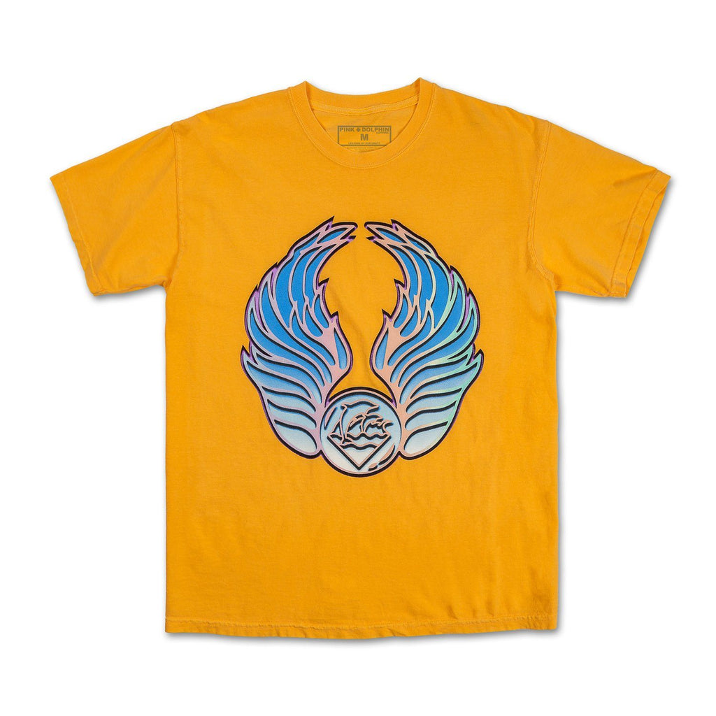 Wave Chest Tee in Orange
