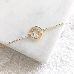 Personalize your jewelry with your own zodiac sign and enjoy our delicate and feminine Capricorn bracelet. Zodiac sign bracelets are  made of 14K Gold Filled.