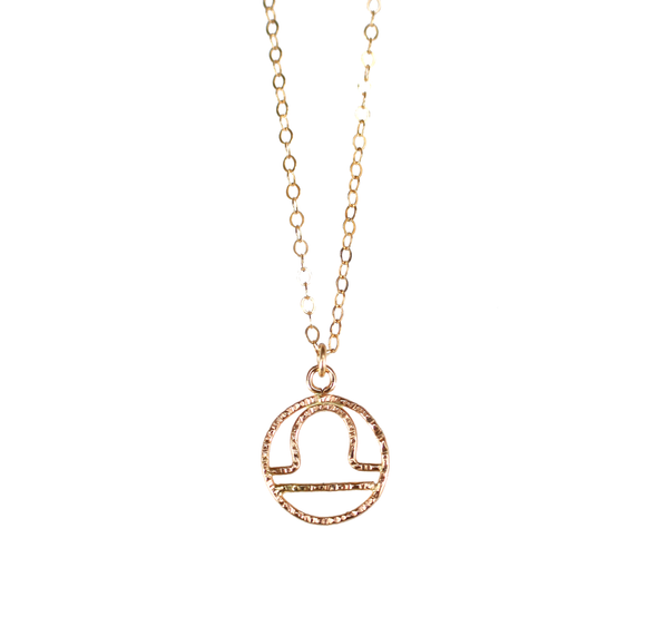 Choose your sign and wear your personalized necklace. This dainty zodiac necklace matches to any style - good for by itself or either layering with your other necklace.  14K Gold Filled
