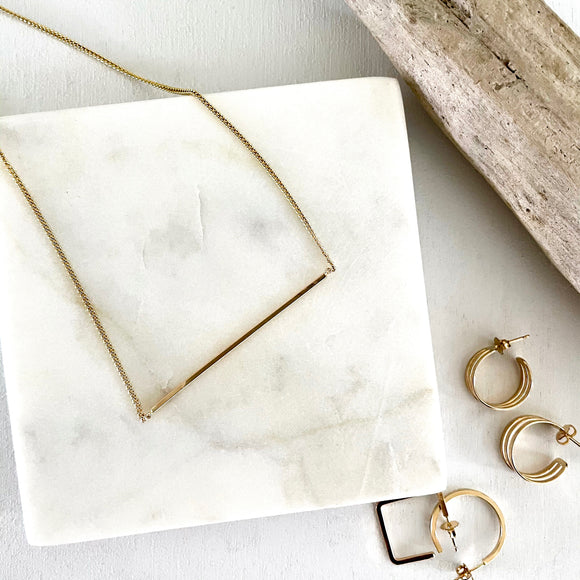 Square Edge Bar Necklace