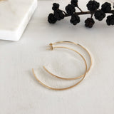 Square Edge Hoop Earrings - Circle