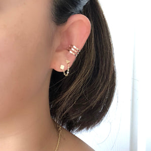 Mini Geo Studs with Removable Chain (PAIR)
