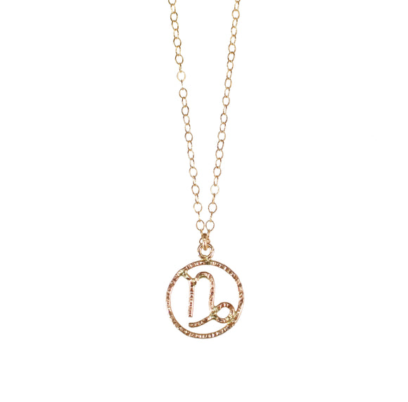 Personalize your jewelry with your own zodiac sign and enjoy our delicate and feminine Capricorn necklace. Zodiac sign necklaces are made of 14K Gold Filled.