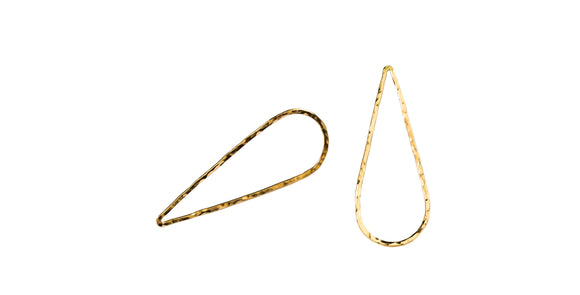 Add the newest modern look in your everyday with this asymmetrical upside down flat teardrop earrings  14K Gold Filled  Length: 1 5/8