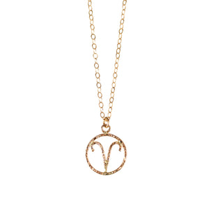 Personalize your jewelry with your own zodiac sign and enjoy our delicate and feminine Aries necklace. Zodiac sign necklace made of 14K Gold Filled.