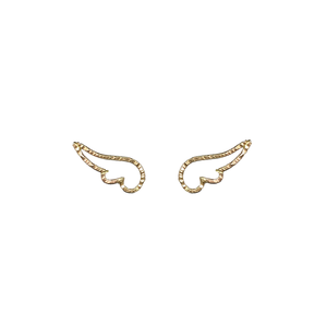 Angel Wing studs made of 14K Gold Filled. Dainty and feminine studs that keeps delicate and minimal look.