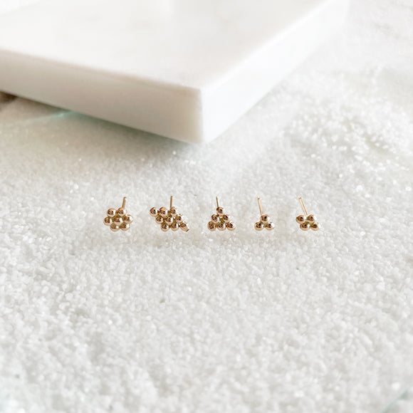 Dewdrop Collection - You didn't know you need, but now you won't be able to live without!  Start a new day with dewdrop earrings that bring magic and spark joy in your life.  These minimal dainty studs are the perfect addition to your everyday stack and your new favorite earrings that you never wanna take off!     Regular Price: $161 → $156 as a set!    14k Gold Filled
