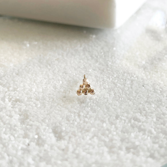 Dewdrop Collection - You didn't know you need, but now you won't be able to live without!  Start a new day with dewdrop earrings that bring magic and spark joy in your life.  These minimal dainty stud is the perfect addition to your everyday stack and your new favorite earring that you never wanna take off!     14k Gold Filled  Approximately 5mm x 5mm (0.2
