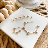 "Dewdrop Collection - You didn't know you need, but now you won't be able to live without!  Start a new day with dewdrop earrings that bring magic and spark joy in your life.  These minimal dainty stud is the perfect addition to your everyday stack and your new favorite earring that you never wanna take off!     14k Gold Filled  Approximately 5mm x 5mm (0.2"" x 0.2"")"