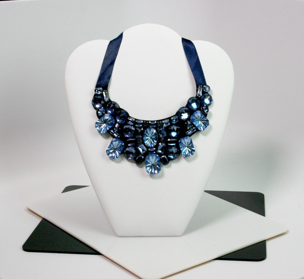 Felt Necklace with Crystal Stones - Babe You