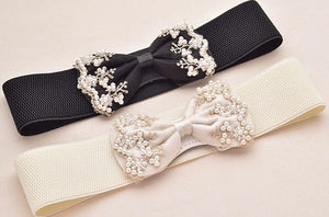 Bow Belt with Pearl Accents - Babe You