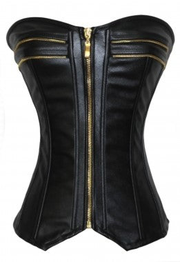 Faux Leather Corset - Babe You