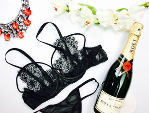 Black Butterfly Lace Bra - Babe You