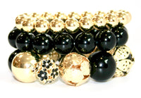 Chunky Black and Gold Bead Bracelet - Babe You