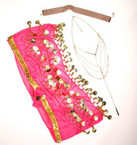 Hip Scarf with Gold Coins - Babe You
