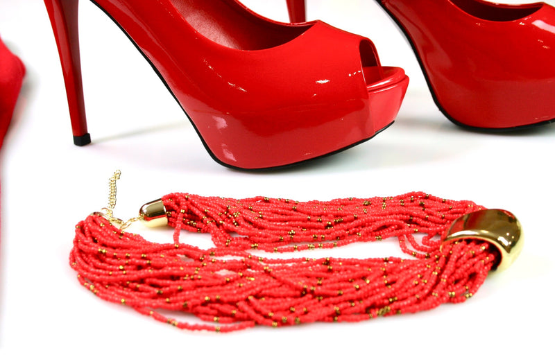 Red High Heel Shoe - Babe You