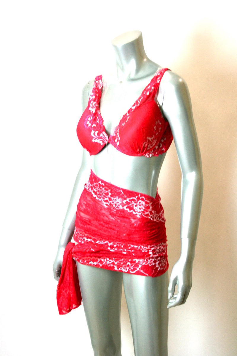 Bra Iridescent Red Lace - Babe You
